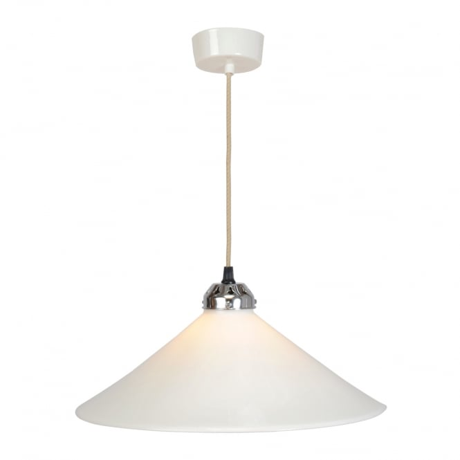 COBB large natural white bone china ceiling pendant