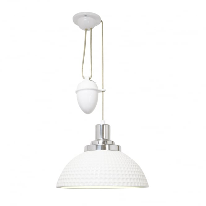 COSMO dimple effect bone china rise and fall ceiling pendant