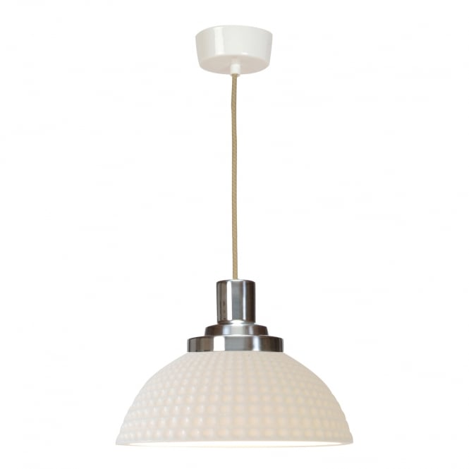 COSMO white dimple effect ceiling pendant light