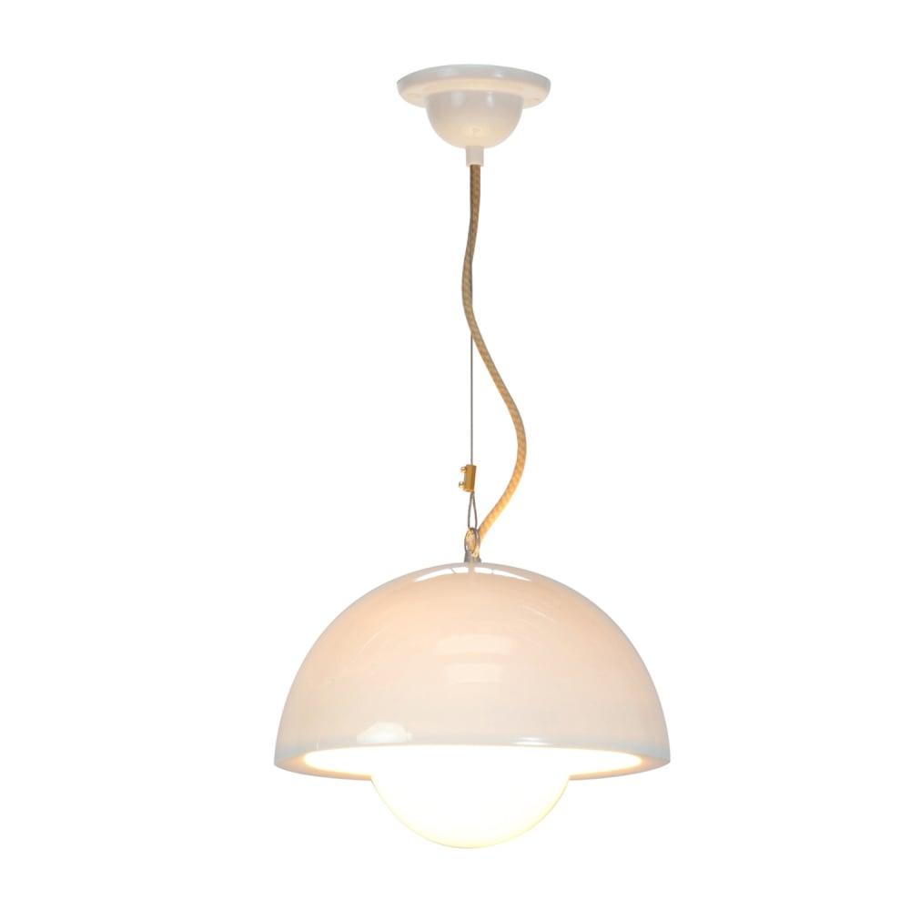 Natural White Bone China Ceiling Pendant Light