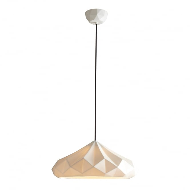 HATTON 5 natural white bone china ceiling pendant