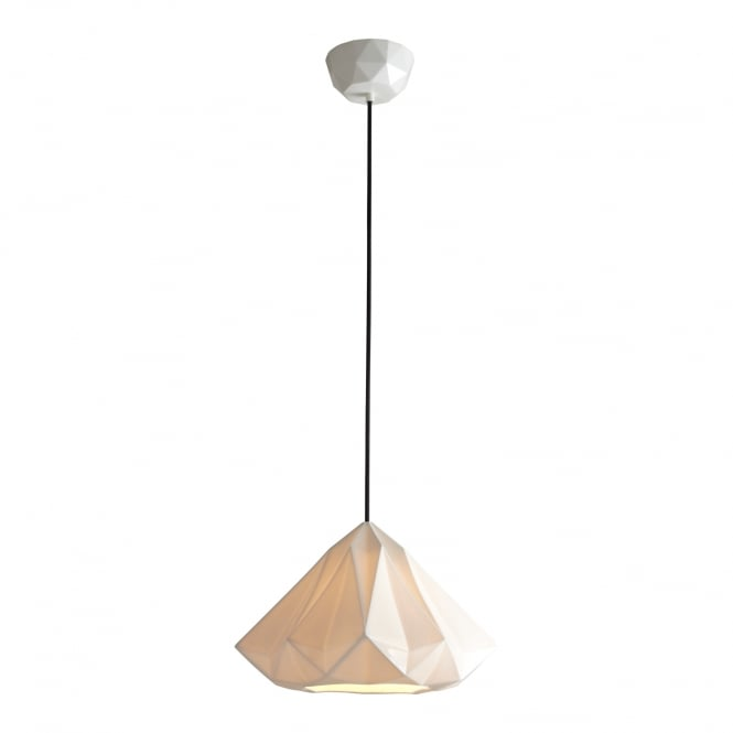 Original BTC HATTON natural white bone china ceiling pendant