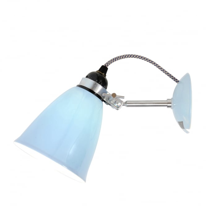 Original BTC HECTOR translucent bone china wall light in light blue
