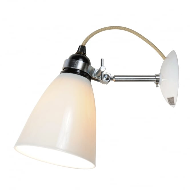 HECTOR translucent natural white bone china wall light