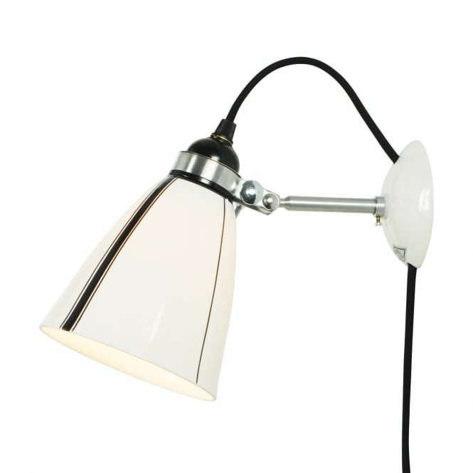 Original BTC LINEAR plug in and switched bone china wall light