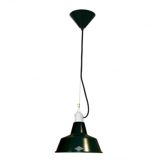 Original BTC QUAY Small Pendant Light, Racing Green