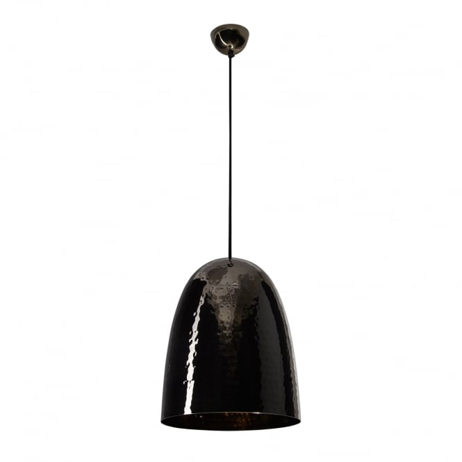STANLEY Large Pendant Light, Hammered Black Nickel