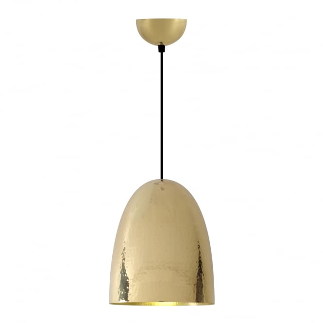 STANLEY Large Pendant Light, Hammered Brass