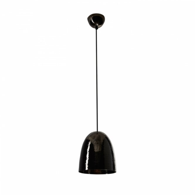Original BTC STANLEY Small Pendant Light, Hammered Black Nickel