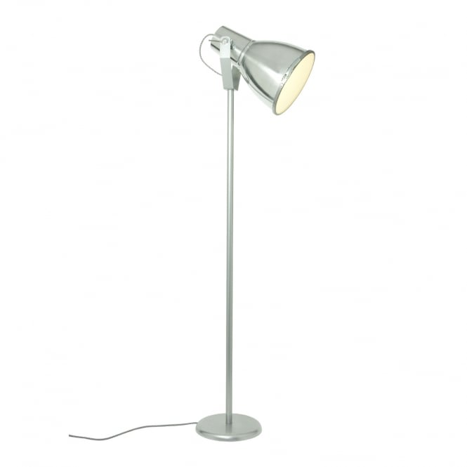 STIRRUP 3 Floor Light with Etched Glass, Natural Aluminium