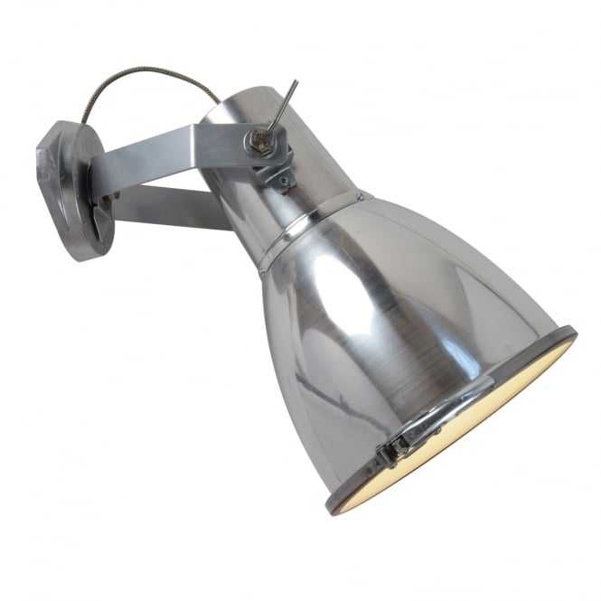 Original BTC STIRRUP 3 Wall Light with Sandblasted Glass, Natural Aluminium