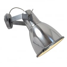 STIRRUP 3 Wall Light with Sandblasted Glass, Natural Aluminium