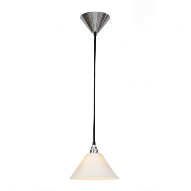 TASK classic ceiling pendant with tapered bone china shade