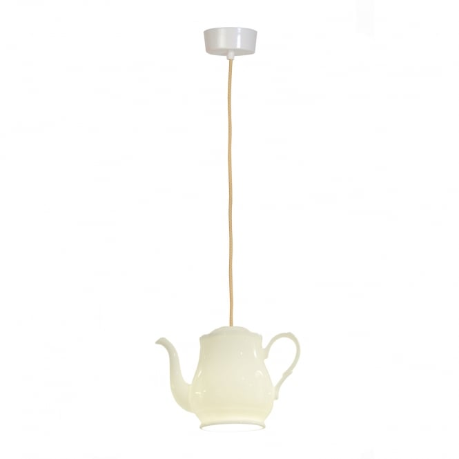 TEA single bone china teapot ceiling pendant light