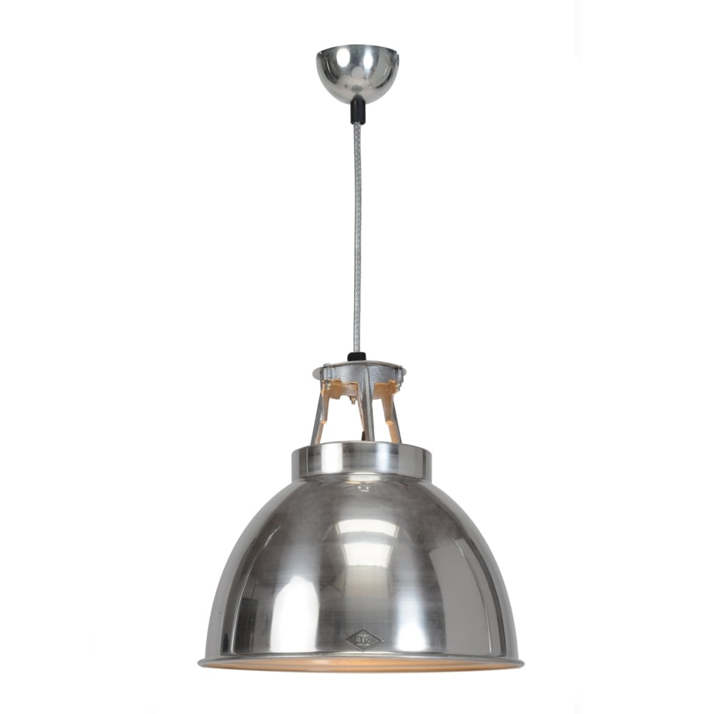 TITAN Size 1 Pendant Light, Natural Aluminium