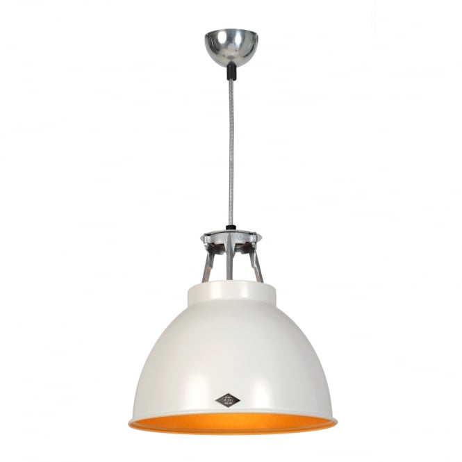 TITAN Size 1 Pendant Light, White/Gold Interior