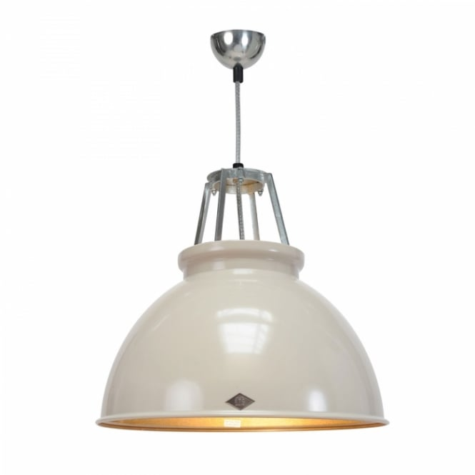 TITAN Size 3 Pendant Light, Putty Grey/Bronze Interior