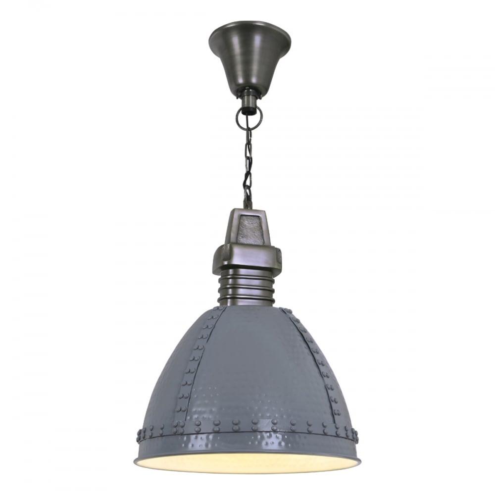 metal pendant lighting fixtures. Industrial Hammered Metal And Rivet Detail Pendant Light Lighting Fixtures