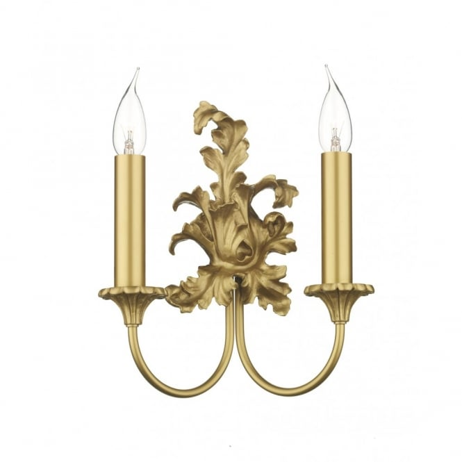 ORMOLU traditional antique gold wall sconce