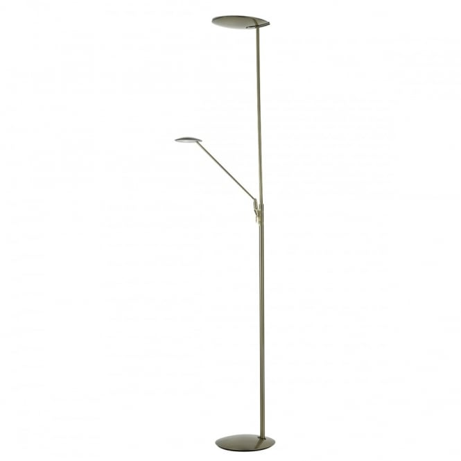 brand new c231f fb8d7 OUNDLE modern bronze LED mother and child floor lamp