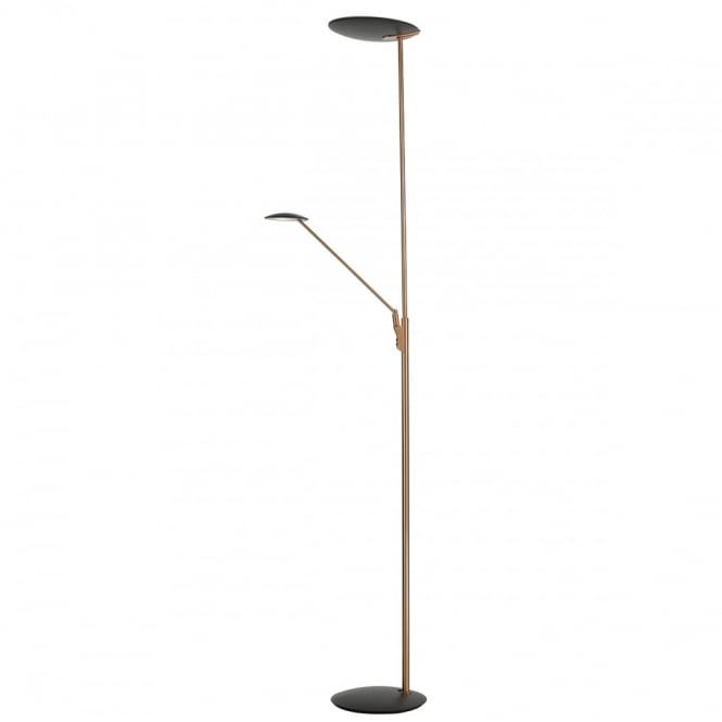 san francisco 5acee 58bb2 OUNDLE modern copper and grey LED mother and child floor lamp