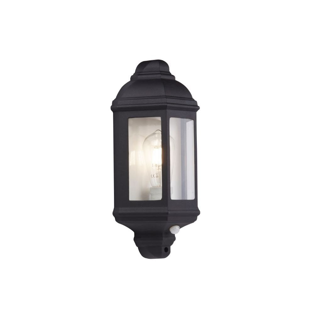 Outdoor Porch Wall Light Black Flush, Motion Sensor Lantern Outdoor Light