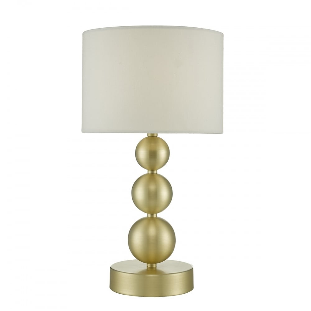 Paige brushed gold touch lamp with cream shade uncategorised from paige brushed gold touch lamp with cream shade aloadofball Image collections