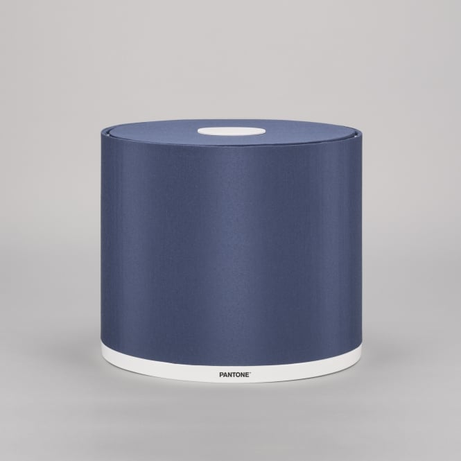 MINTAKA 25 modern lamp shade in Sargasso sea blue finish