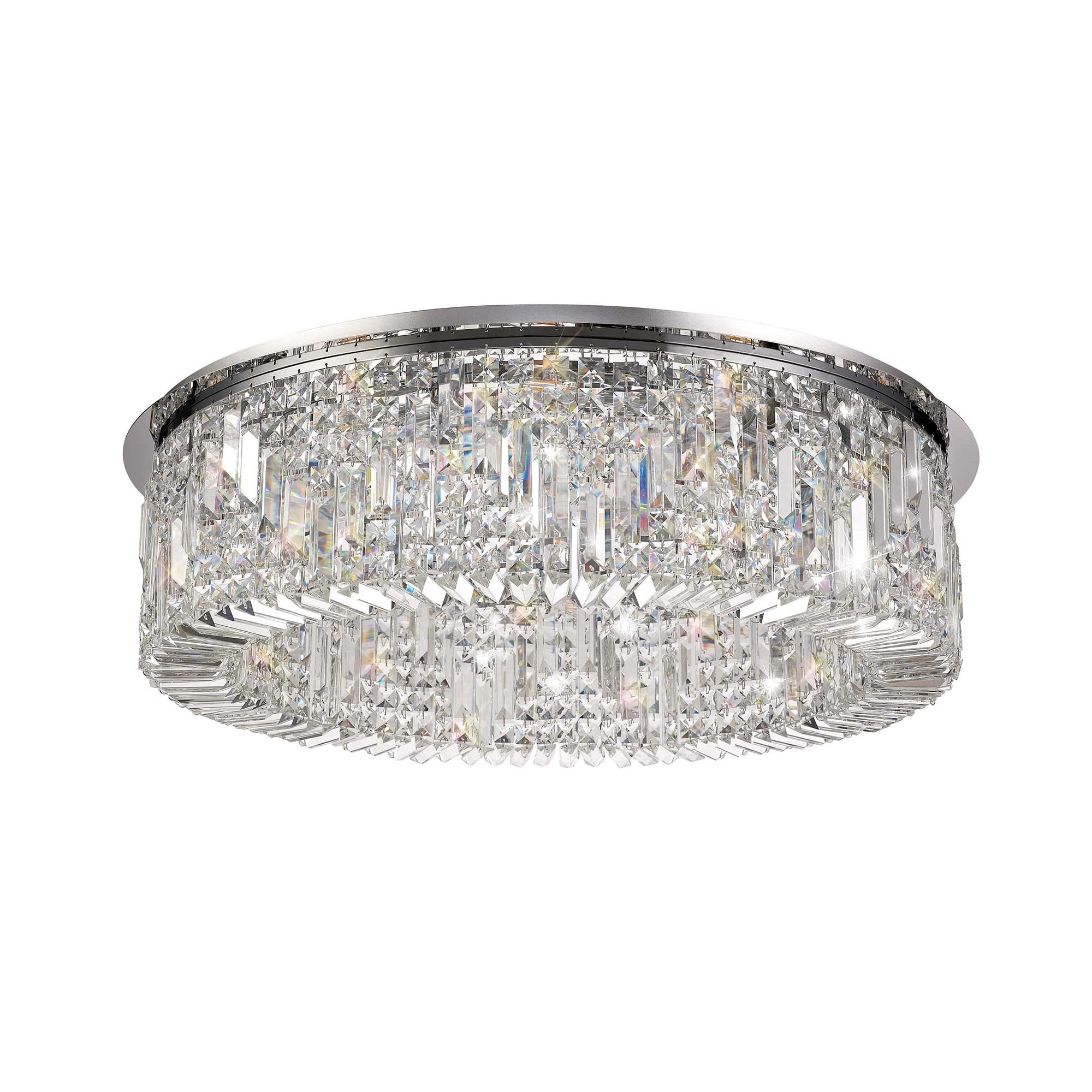 Large Crystal Ceiling Light Sparkly Lighting Lighting Company Uk
