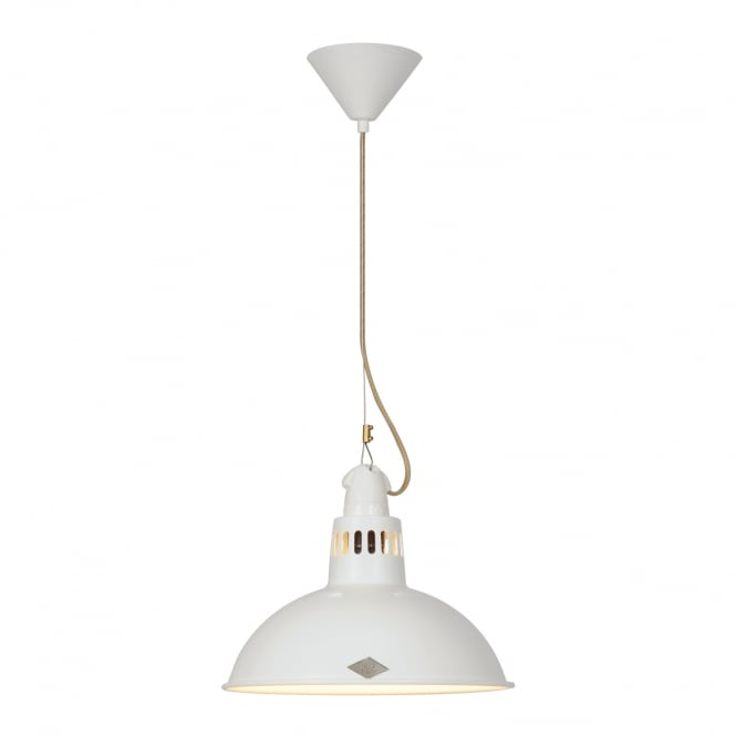 PAXO industrial style ceiling pendant in white