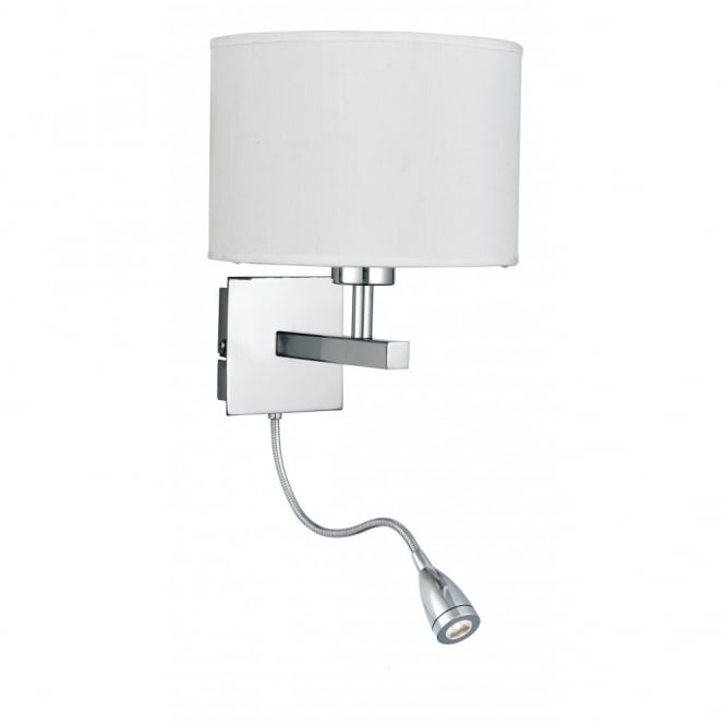 Led Wall Reading Light: Hotel Style Bedroom Wall Light With Adjustable LED Reading