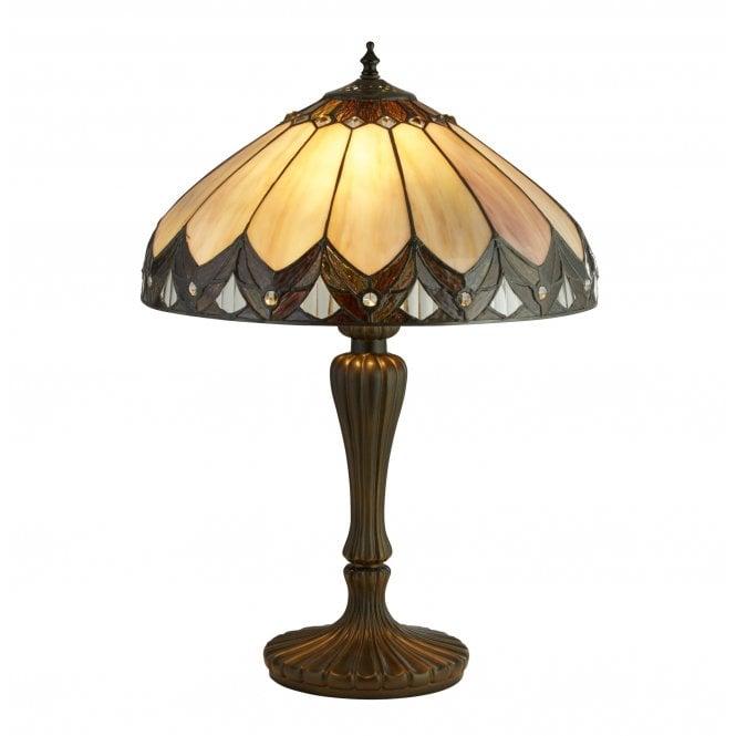 Pearl Bronze Black Clear Brown Purple Tiffany Table Lamp