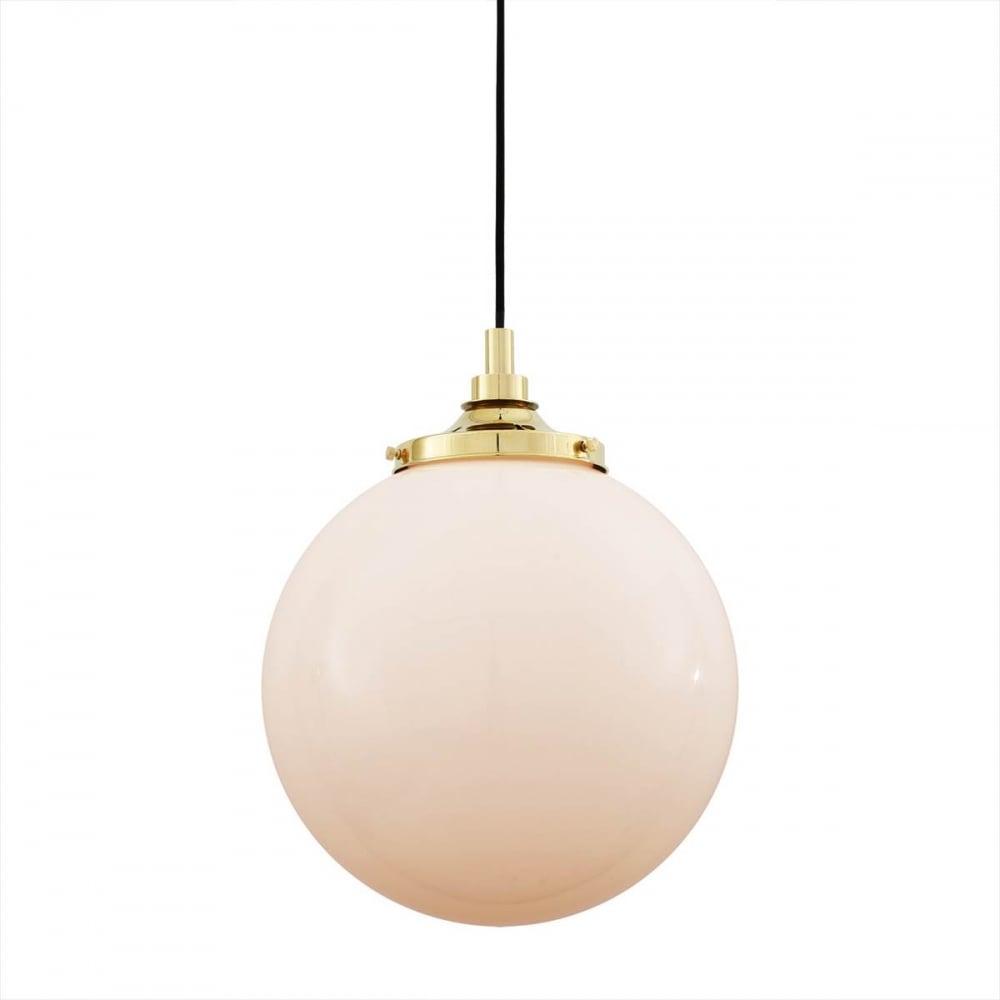 best cheap d0f3b b38eb PELAGIA opal glass globe bathroom pendant with brass suspension