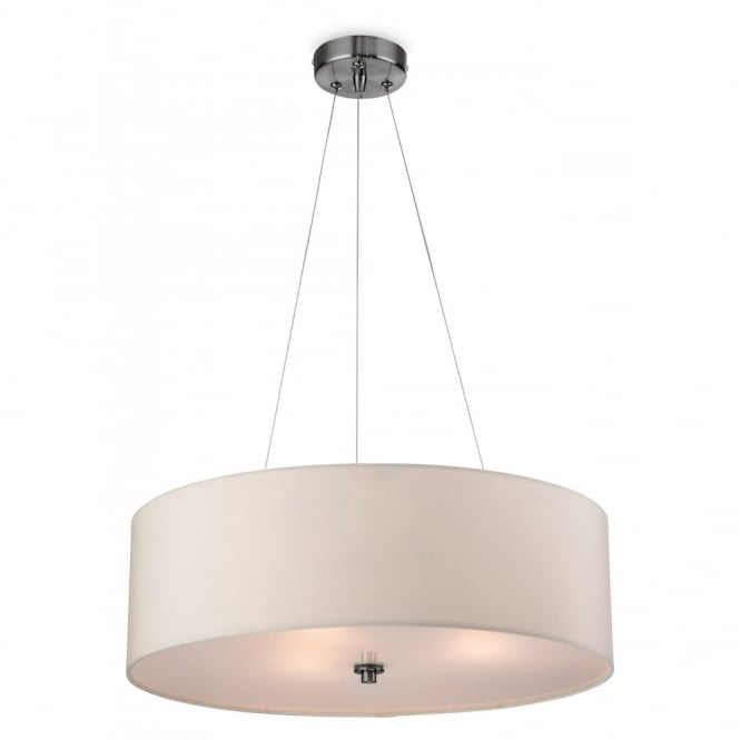 Contemporary Cream Ceiling Pendant with Glass Diffuser