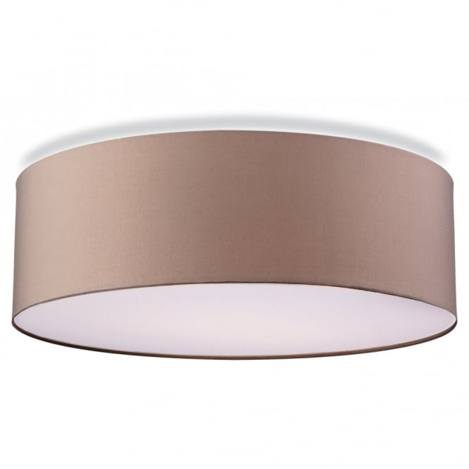 Contemporary Flush Ceiling Light In Taupe Finish