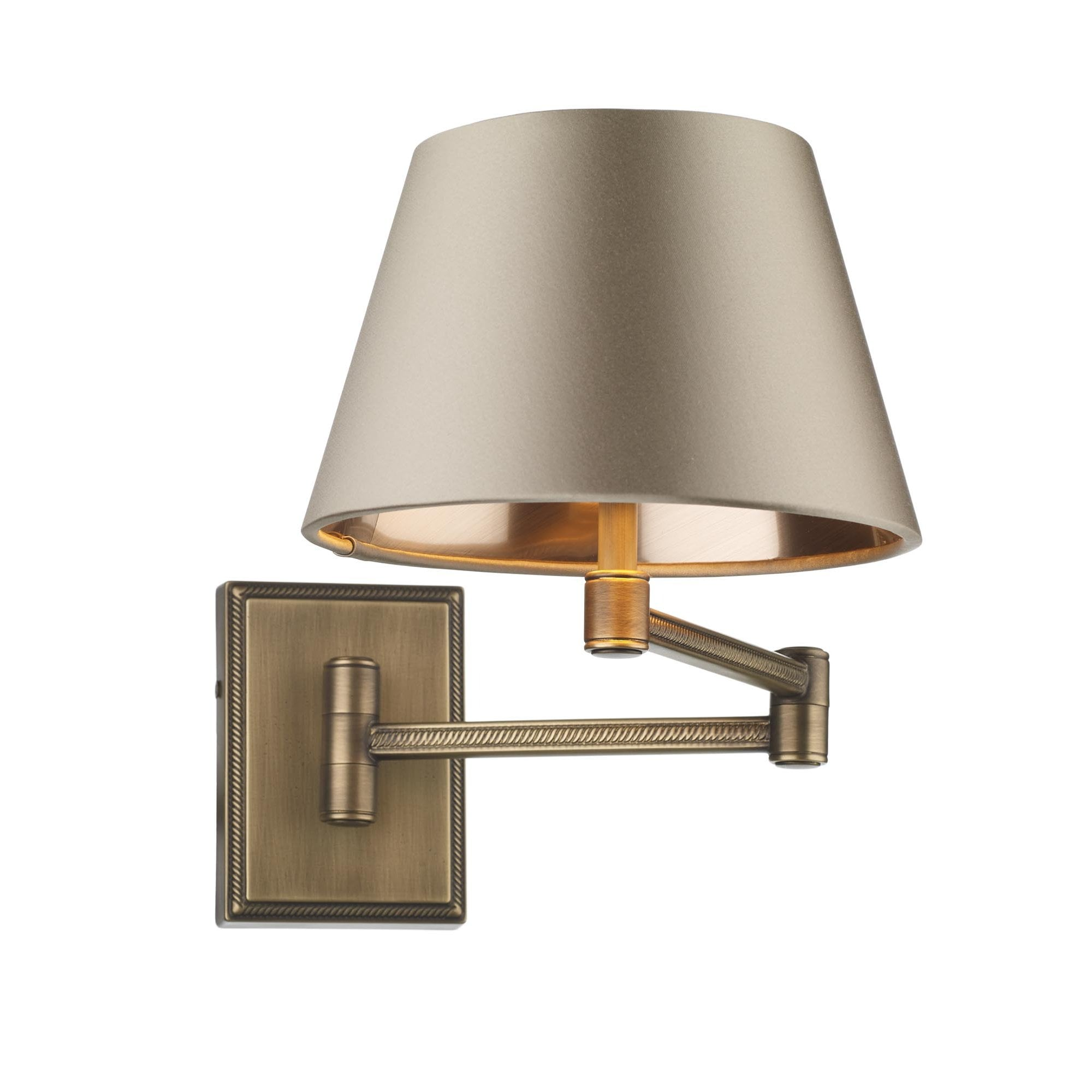 Swing Arm Wall Light Piped Antique Brass David Hunt Lighting Company