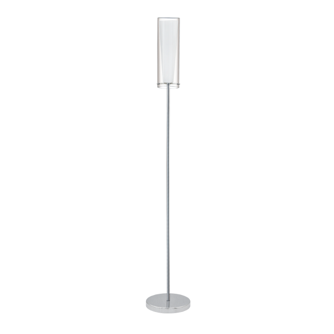 reputable site 1d7e9 e0283 PINTO modern chrome & glass floor lamp