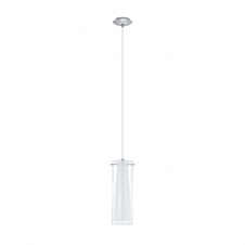 PINTO single modern chrome & glass ceiling pendant