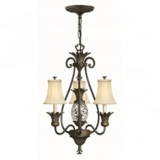 PLANTATION 4 light bronze pineapple chandelier