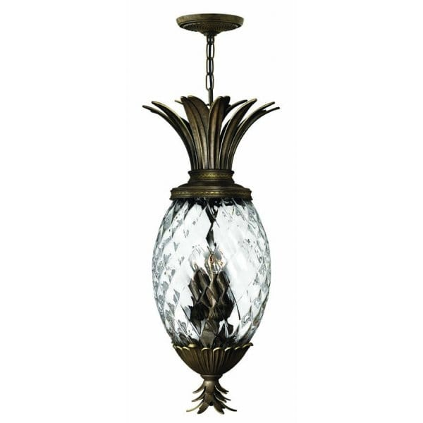 Traditional Pineapple Ceiling Pendant Light In Pearl