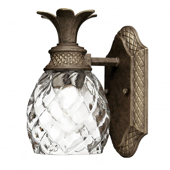 PLANTATION sophisticated bathroom wall light in pearl bronze