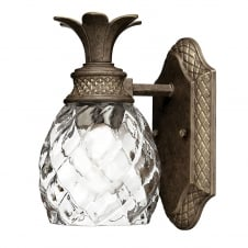 decorative pearl bronze bathroom wall light with glass shade