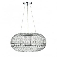 PLAZA crystal and chrome modern chandelier ceiling pendant