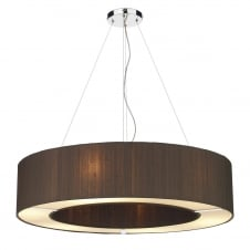 POLO circular nutmeg silk ceiling pendant light shade