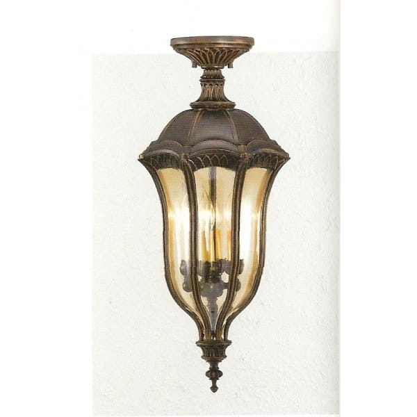 Baton Rouge Outdoor Pedestal Lantern By Feiss: Exterior Hanging Lantern Or Flush Fitting Porch Light
