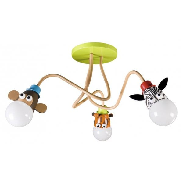 Animal themed ceiling light ideal 4 kids bedroom lighting for Kids ceiling lights for bedroom