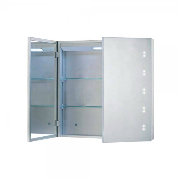 Illuminated Mirrored Bathroom Cabinet With Switch Shaver Socket