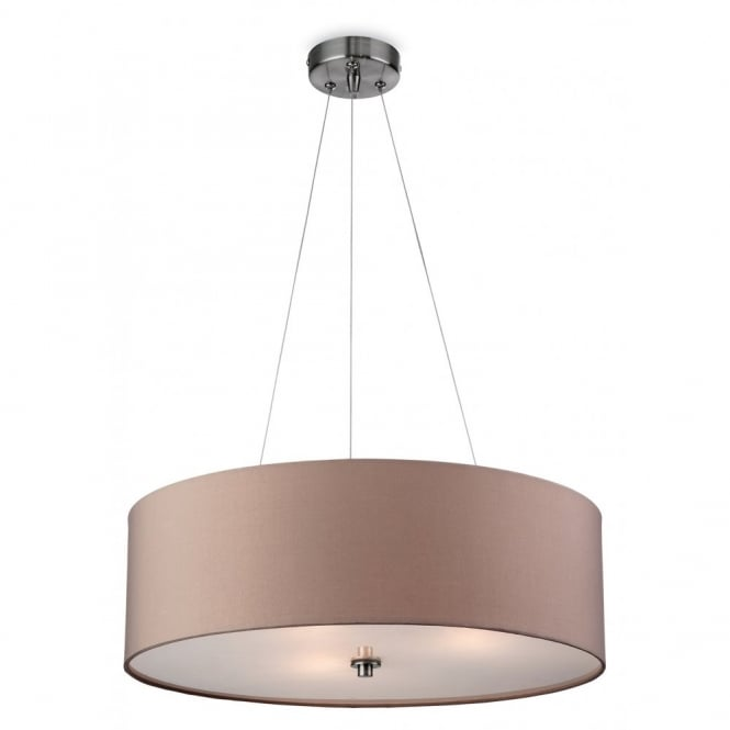 The Lighting Collection PHOENIX contemporary taupe ceiling pendant light with diffuser