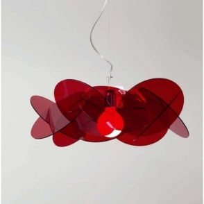 BEA modern Italian red ceiling pendant for high ceilings