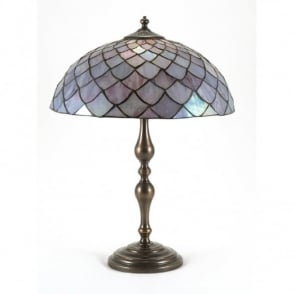 AGED BRASS Tiffany table lamp